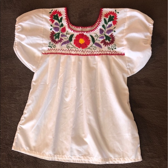 Shirts Tops Traditional Mexican Embroidered Blouse Poshmark